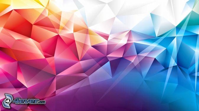 Abstrakte Dreiecke, Farben
