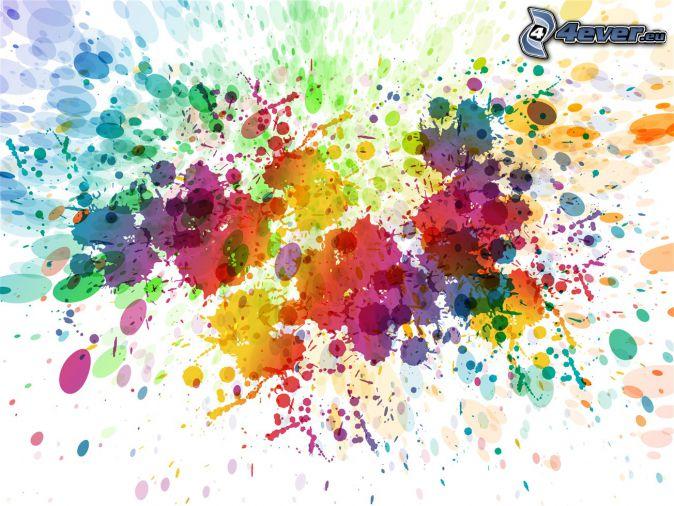 farbiger Hintergrund, farbige Kleckse