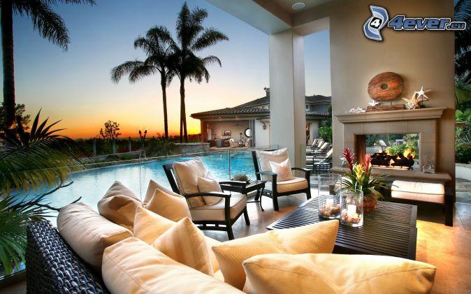 luxuriöses wohnzimmer, Wohnzimmer