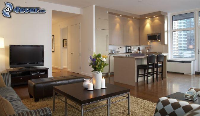 Wohnzimmer Mit Kuche Zusammen ~ Home Design Inspiration