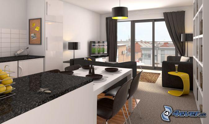 kuche und wohnzimmer zusammen ~ artownit for .