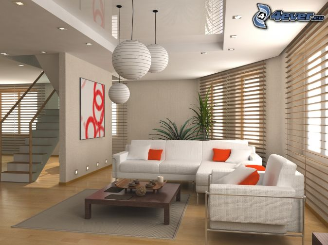 Offene treppe wohnzimmer: offene wohnung wohnküche schlafzimmer ...