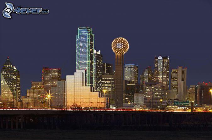 Dallas, Nachtstadt, Wolkenkratzer