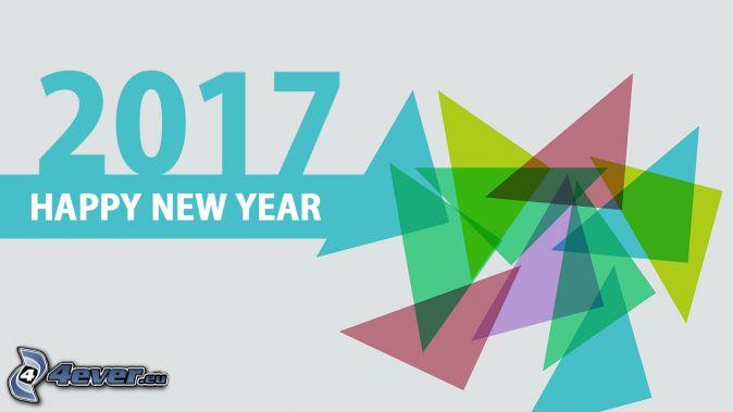 2017, glückliches Neues Jahr, happy new year, Dreiecke