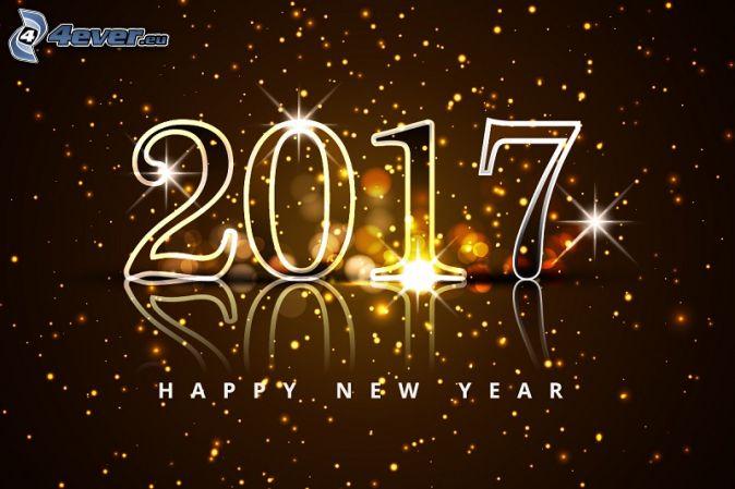 2017, happy new year, glückliches Neues Jahr, Ringe