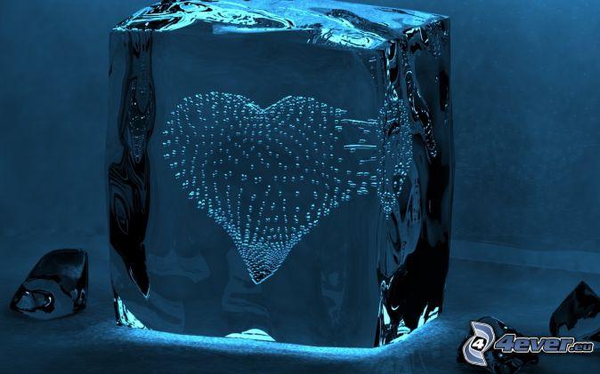 Herz eis blasen