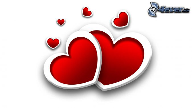 roten Herzen