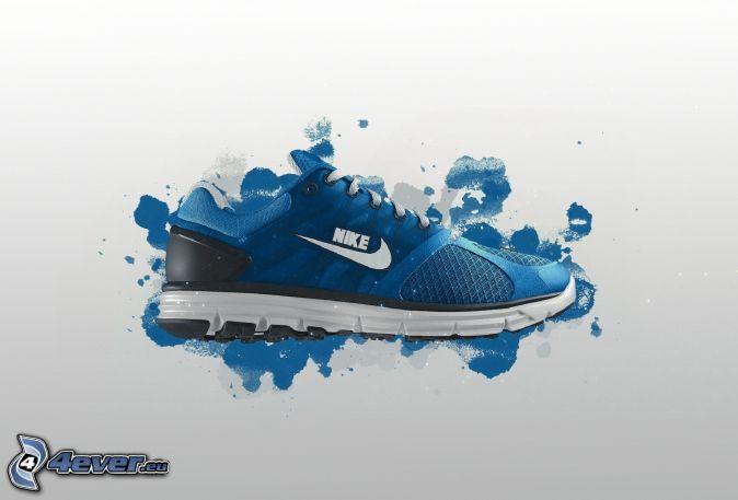 Nike, Turnschuh, Kleckse