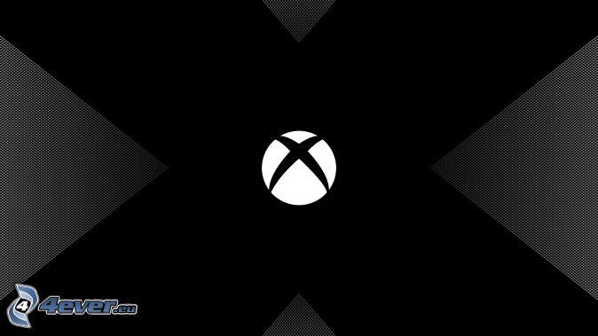 Xbox, schwarzem Hintergrund