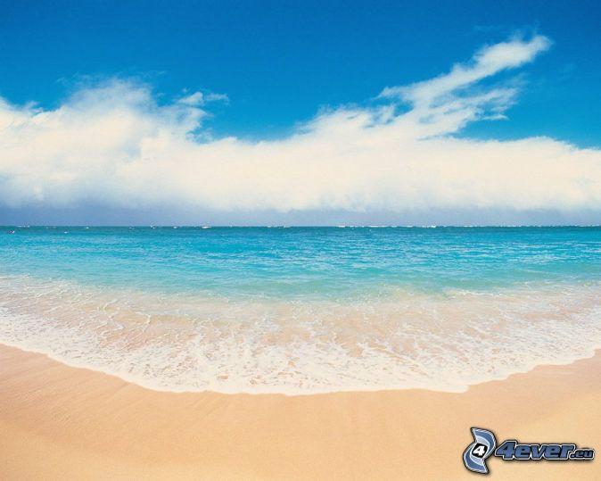 Himmel wolken strand wasser fluss wasserfall sch ne for Scha ne gemalte bilder