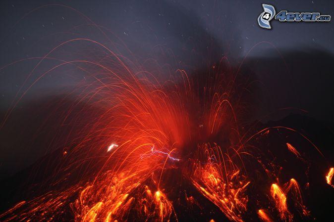 Vulkan Explosion