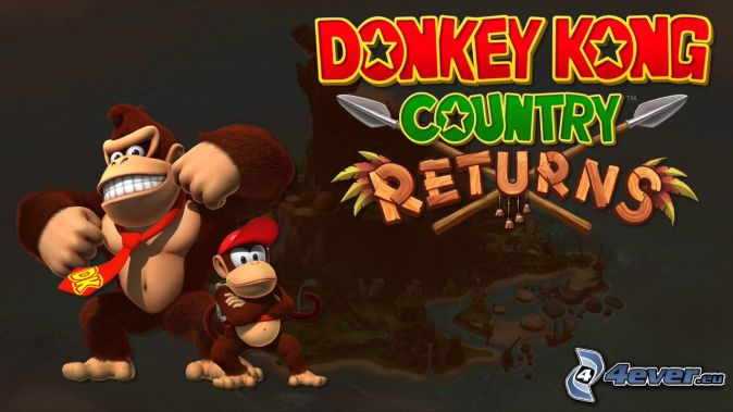 Donkey Kong Country Returns, Gorillas, Lächeln, Krawatte