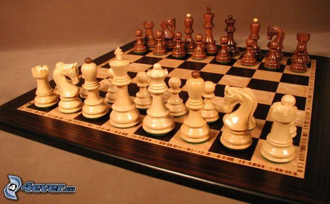 Schach, Schachfiguren, Schachbrett