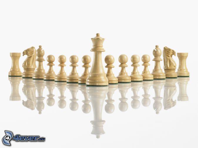 Schachfiguren, Spiegelung