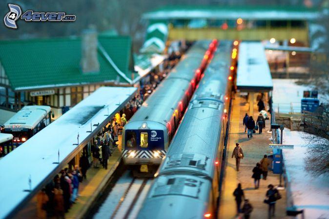 Bahnhof, Züge, diorama