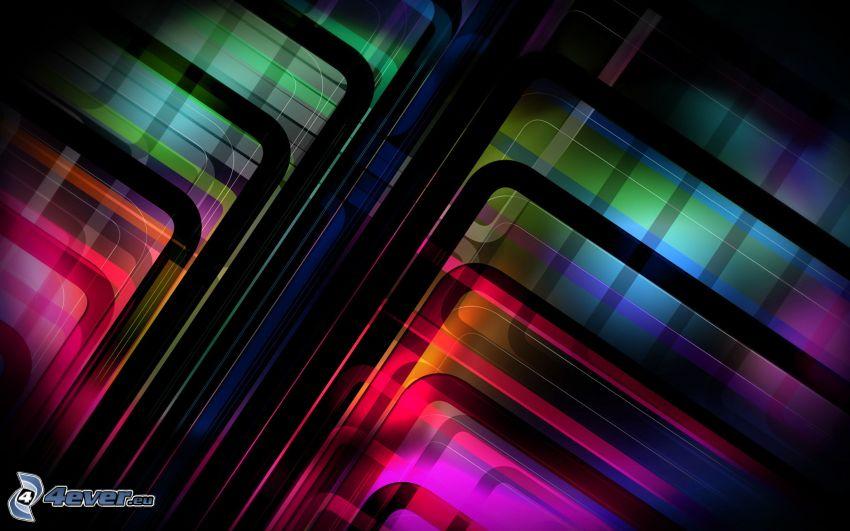 abstrakte farbige Linien
