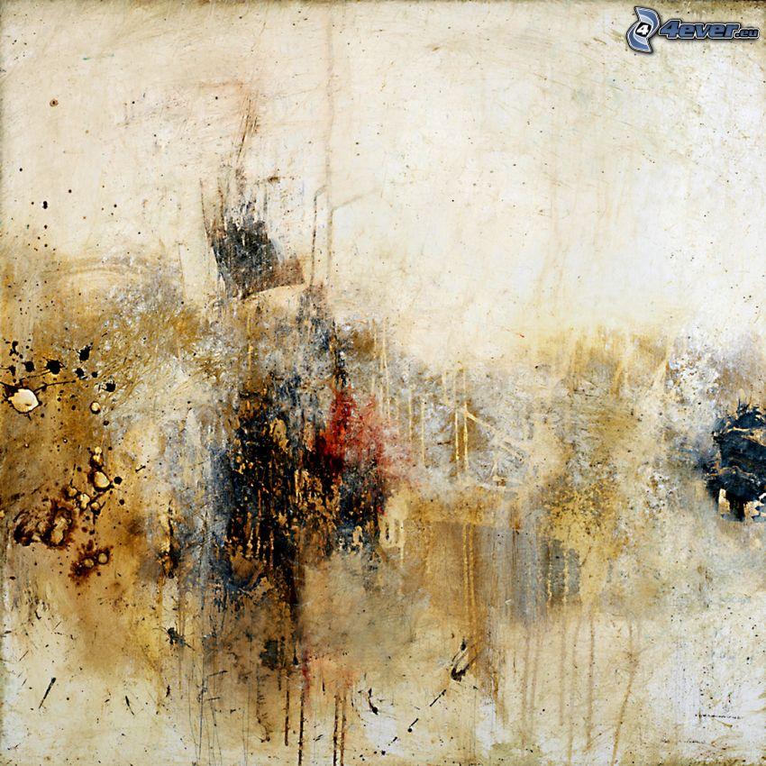 abstrakte Kleckse