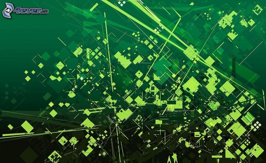 abstrakte Quadrate, Gürtel, Linien
