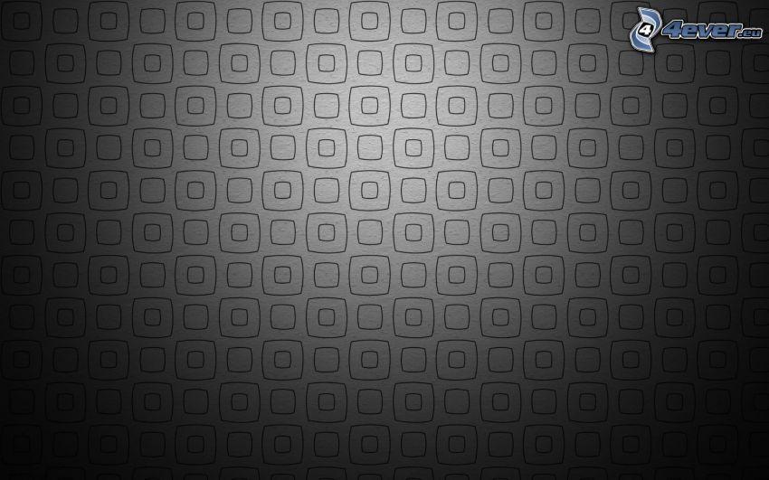abstrakte Quadrate, schwarzem Hintergrund