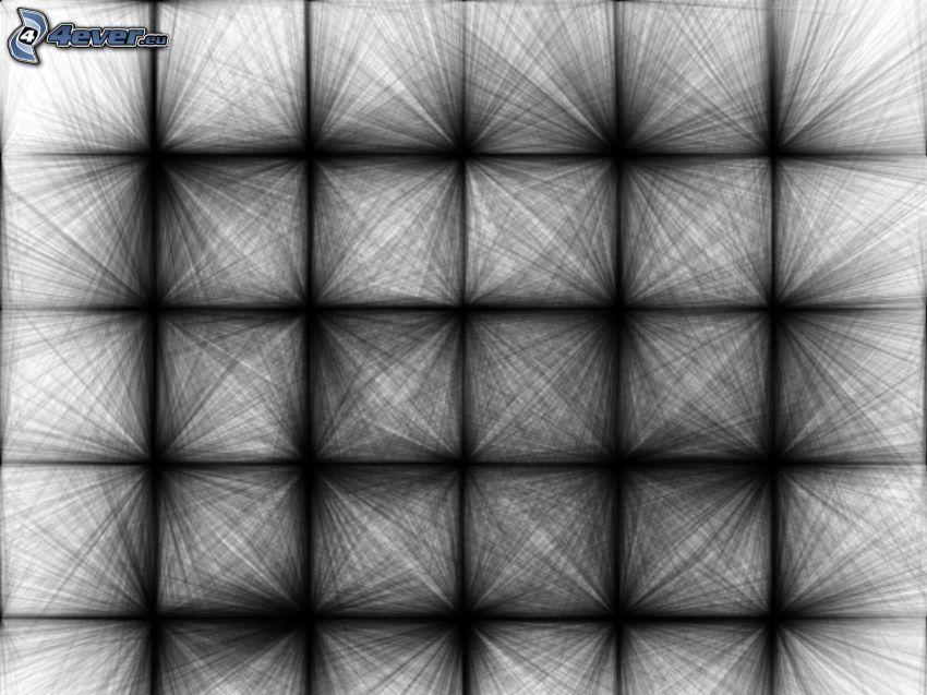 abstrakte Quadrate, schwarzweiß