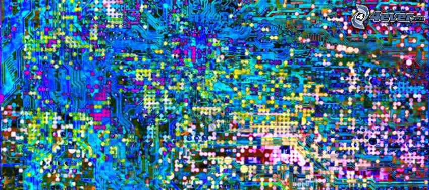 abstrakter Hintergrund, farbige Kleckse