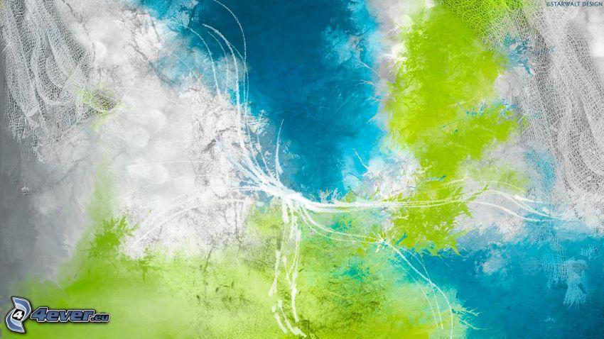abstrakter Hintergrund, Kleckse