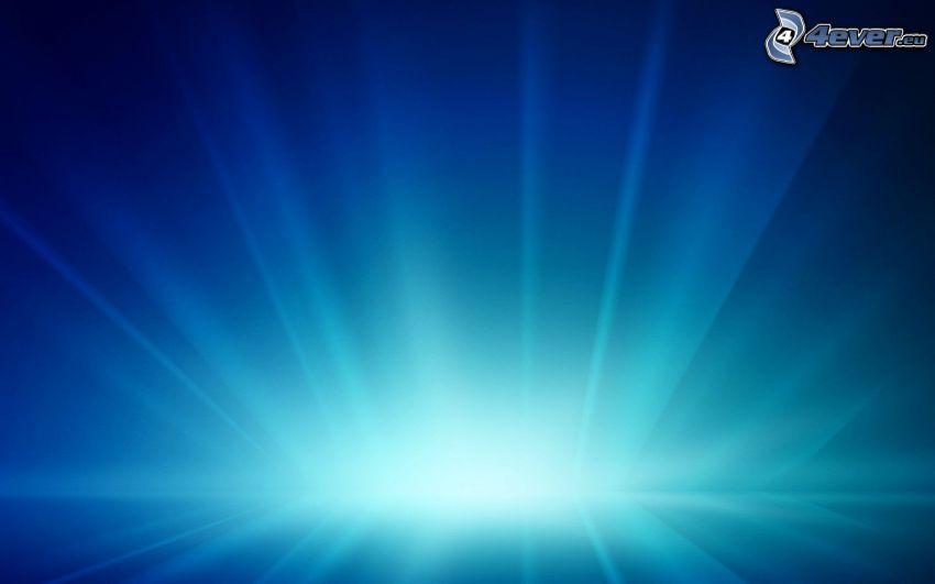 blauer Hintergrund, Licht