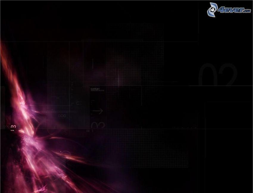 Explosion, abstrakt, violett Hintergrund