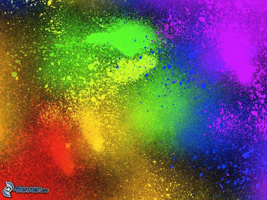 farbige Kleckse
