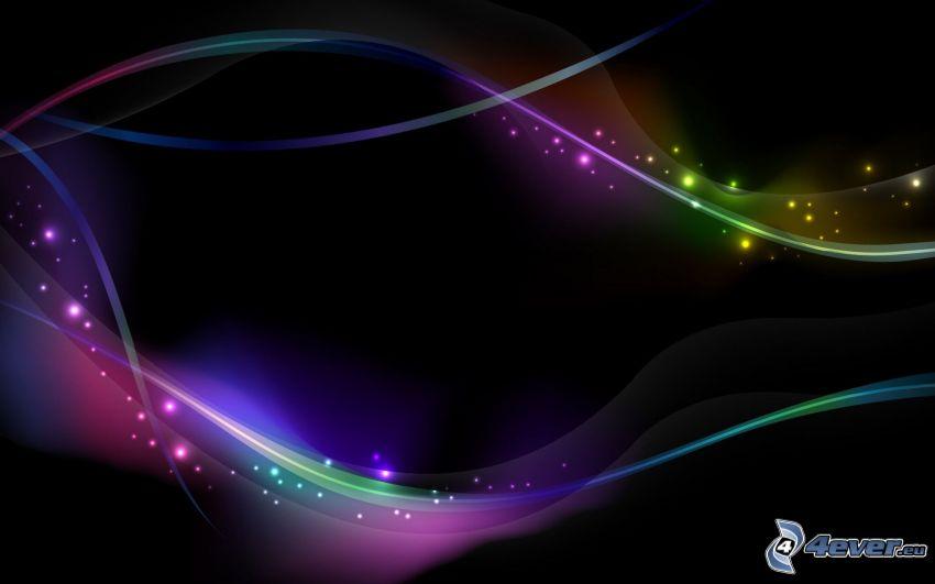 farbige Linien, farbige Ringe