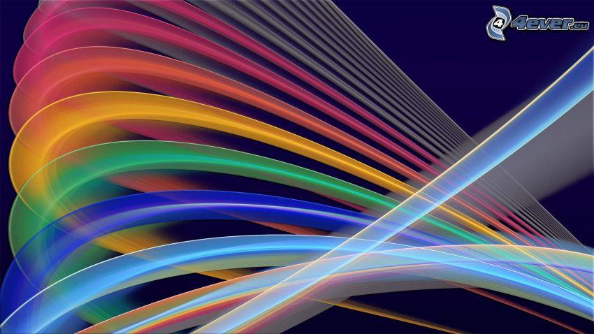 farbige Linien, Regenbogenfarben