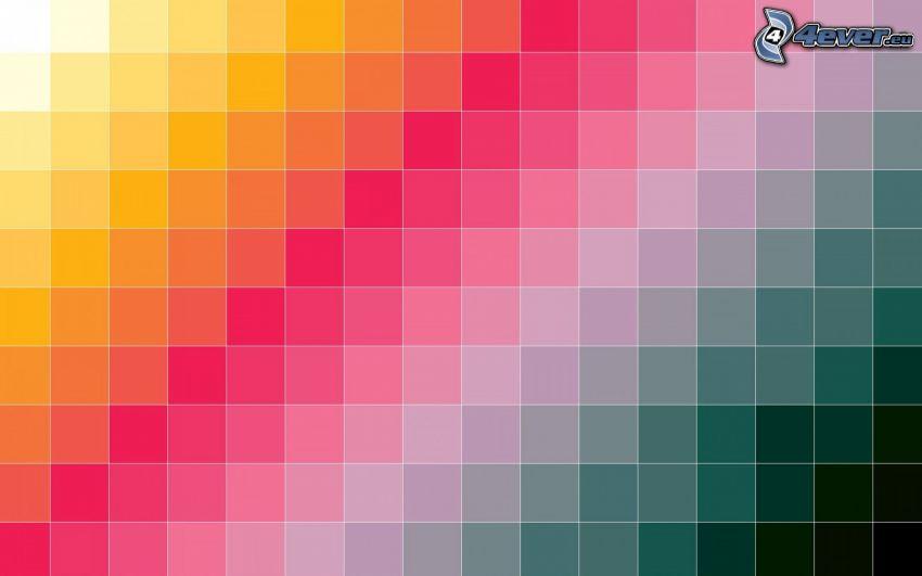 farbiger Hintergrund, Quadrate