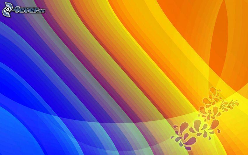 Farbstreifen, abstrakter Hintergrund
