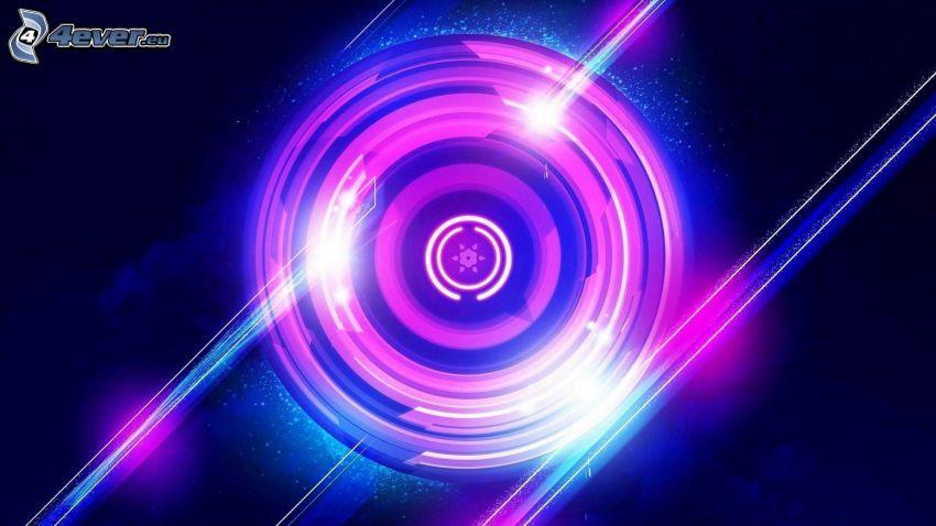 Kreis, abstrakter Hintergrund