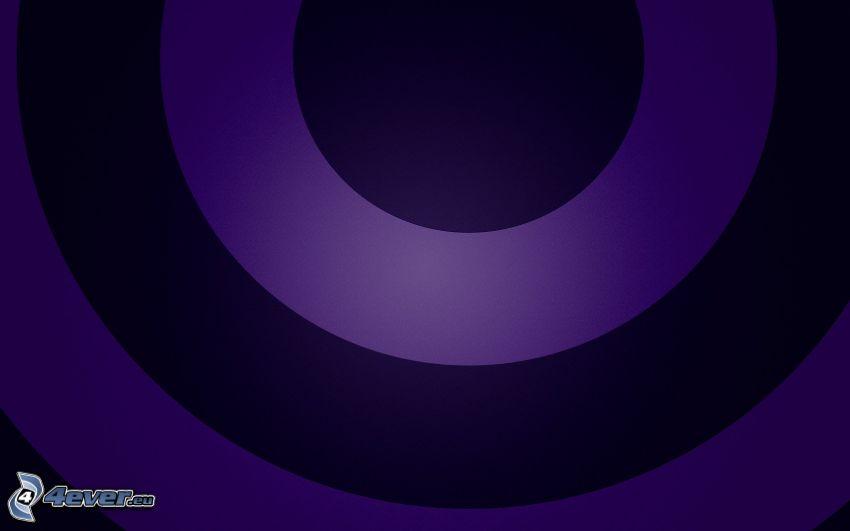 Kreisen, violett Hintergrund