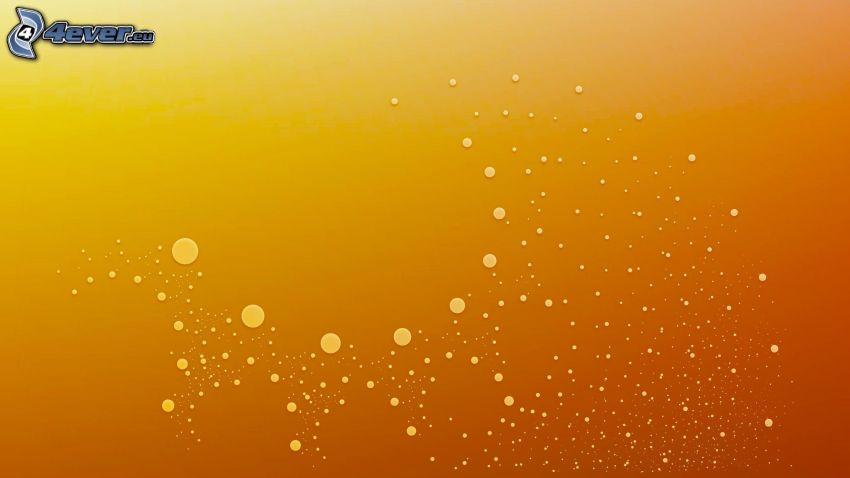 Kugeln, orange Hintergrund