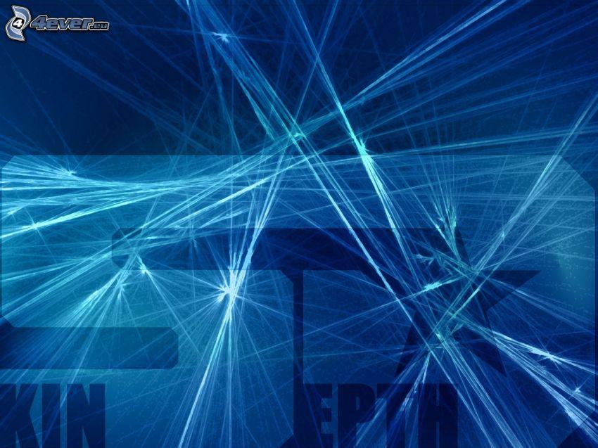 Laserstrahlen, abstrakt