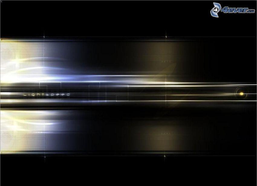 Licht, Geschwindigkeit, abstrakter Hintergrund