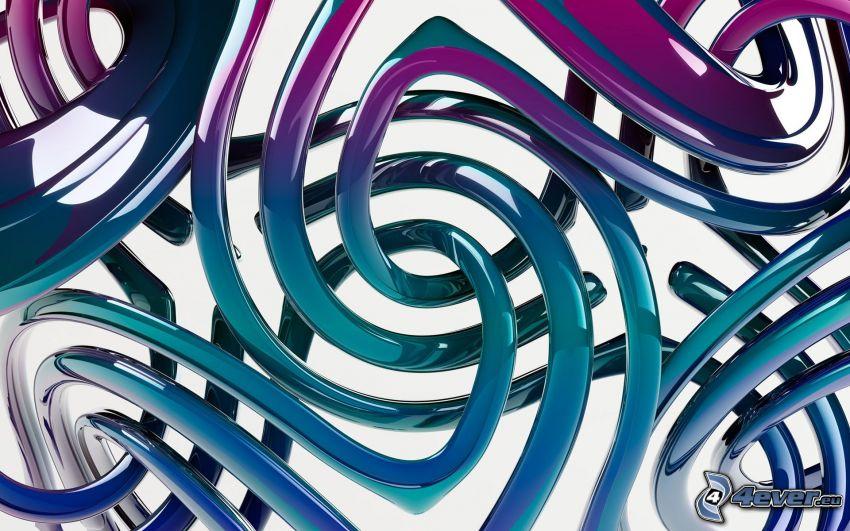 Linien, blauen Streifen