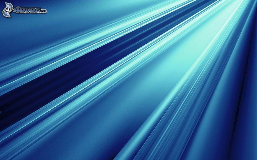 Linien, blauer Hintergrund