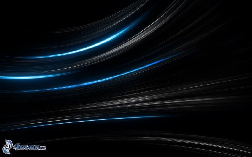 Linien, schwarzem Hintergrund