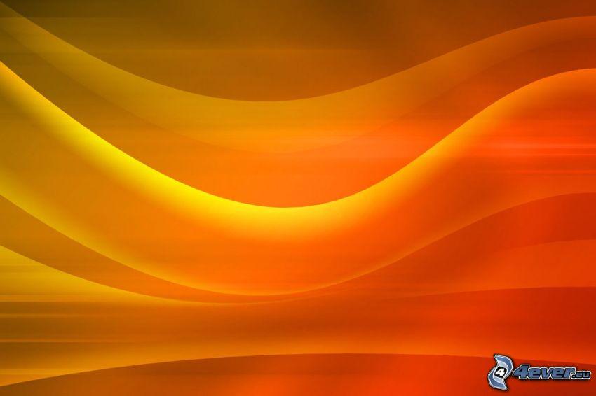 Orange Wellen