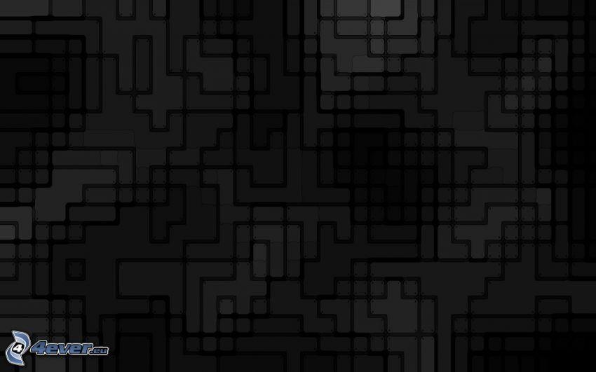 Quadrate, abstrakte Rechtecke