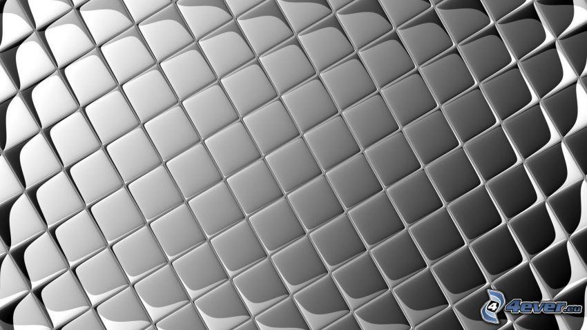 Quadrate, grauen Hintergrund