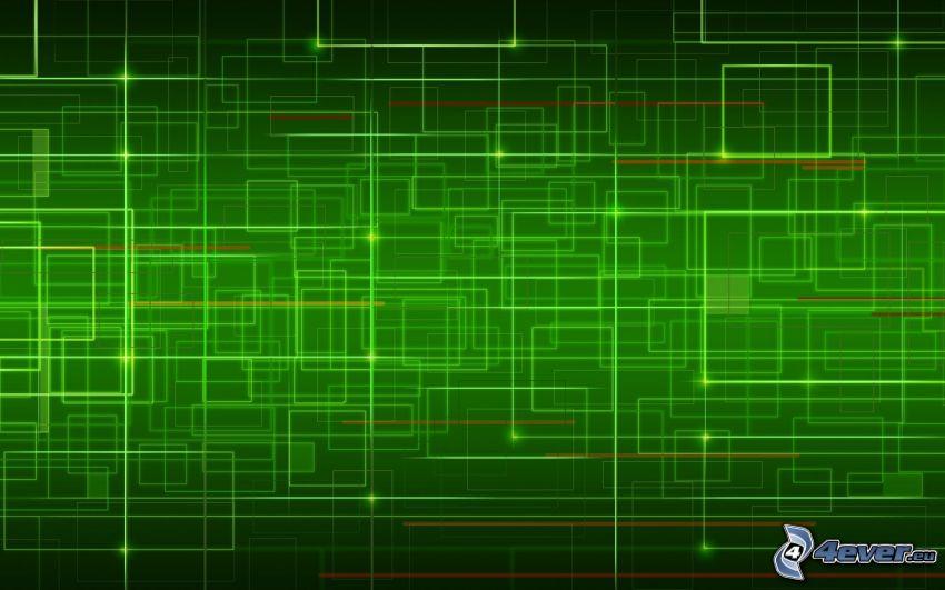 Quadrate, Linien