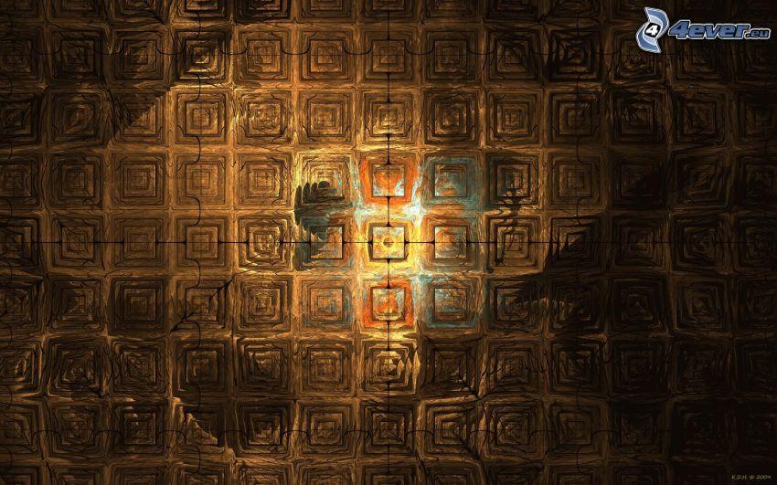 Quadrate, Malerei