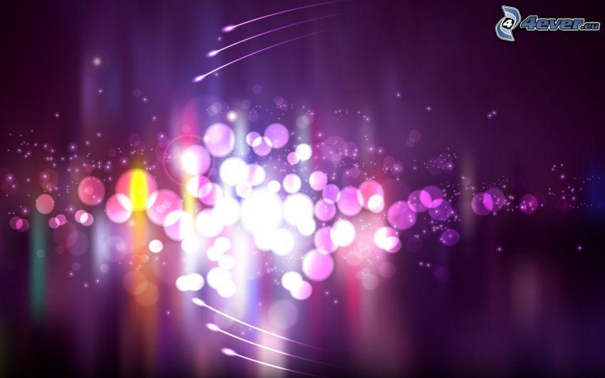Ringe, violett Hintergrund