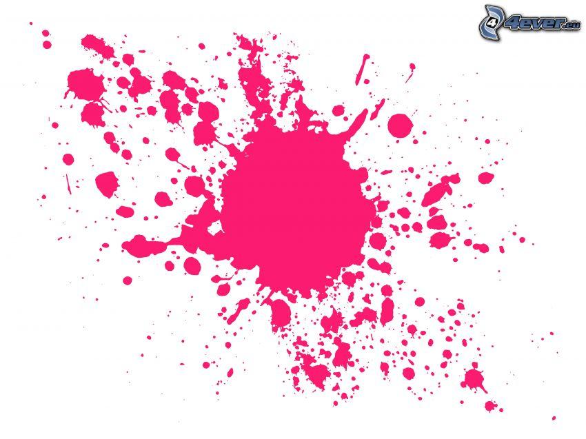 rosa Farbe, farbige Kleckser