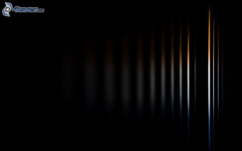 schwarzem Hintergrund, Linien