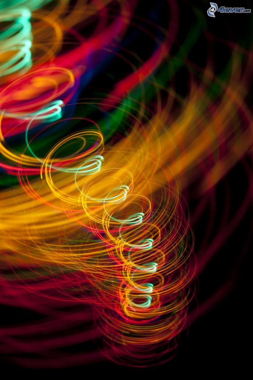 Spirale, farbige Linien